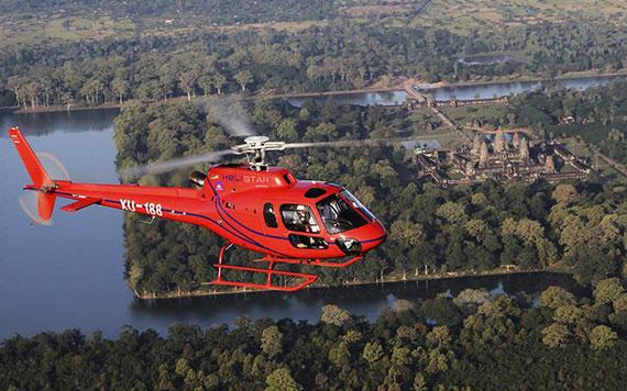 В Ангкор на вертолёте